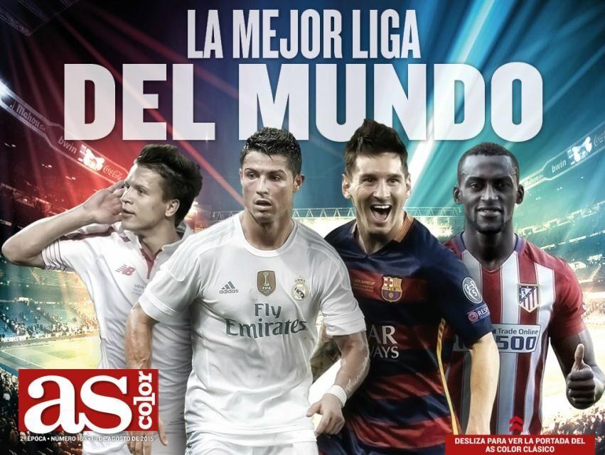Коноплянка вместе с Роналду и Месси рекламирует чемпионат Испании