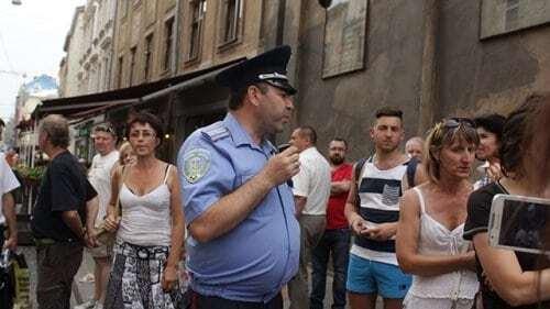 Турецкие фанаты устроили в центре Львова дебош: фото беспредела