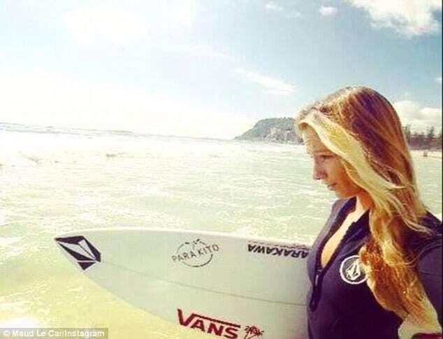 Сексуальная сёрфингистка снялась в необычной рекламе