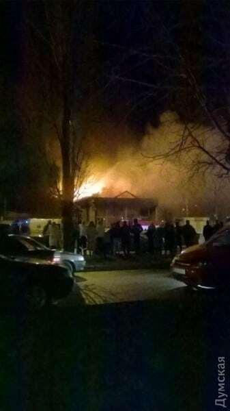 В Одессе сгорел фитнес-клуб, где тренировались полицейские