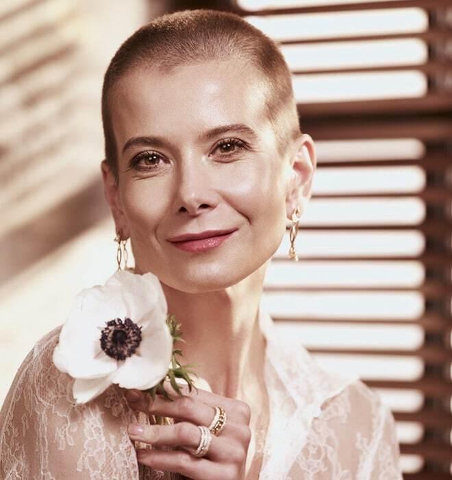 Кардинально сменившая имидж Юлия Высоцкая снялась для модного глянца