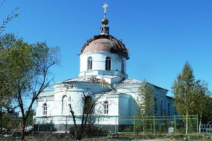 """""""Украина приходит"""". """"Взорванный карателями"""" храм на Донбассе получил новый купол"""