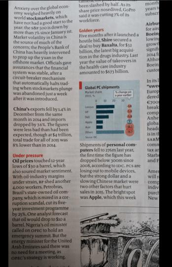 The Economist вийшов із заголовками з пісень Девіда Боуї