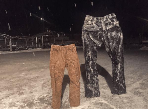 У американцев появилась мода на замороженные штаны: опубликованы фото