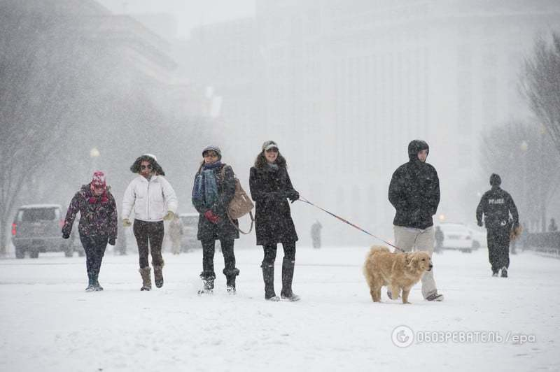 Замело: США накрыла самая сильная за 100 лет снежная буря