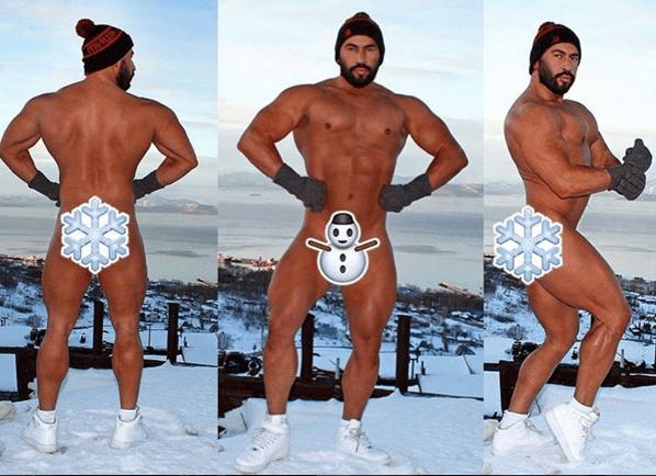 Снігові забави оголених мачо: топ-10 фото сексуальних красунчиків з Instagram