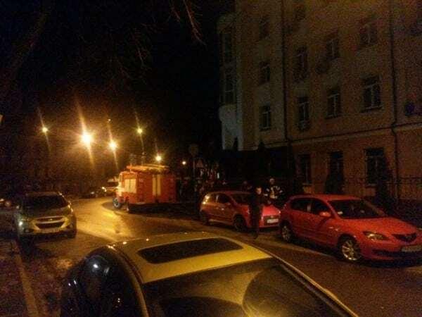 В Киеве произошел пожар в здании следственного управления ГПУ