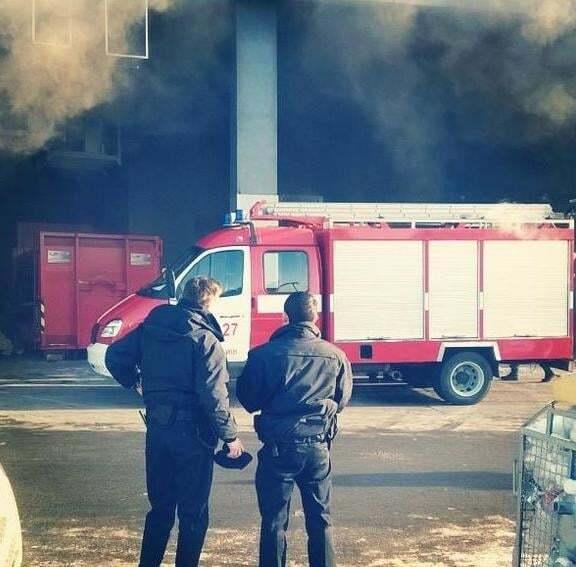 У київському ТРЦ сталася пожежа
