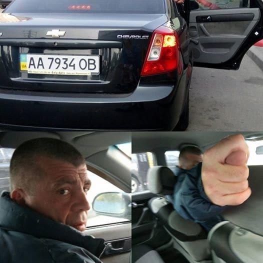 Сделаем знаменитым: в Киеве таксист ударил женщину с ребенком на руках