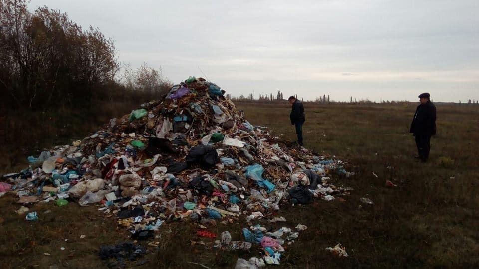На Житомирщине возле международной трассы выбросили тонны мусора из Львова