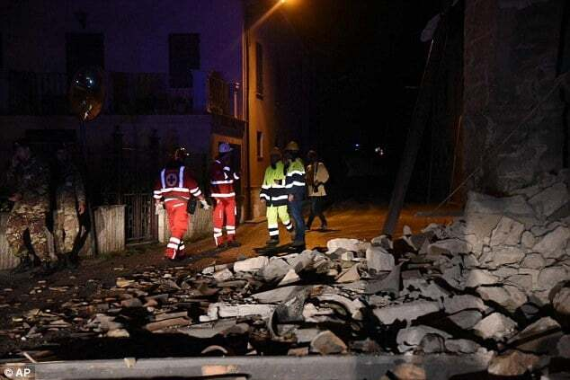Центральную Италию всколыхнули мощные землетрясения
