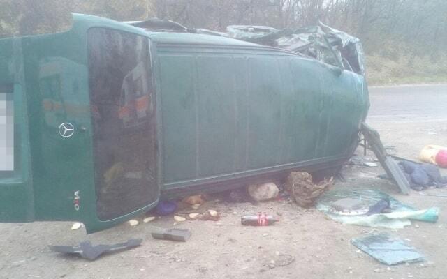 На запорожской трассе произошла автокатастрофа