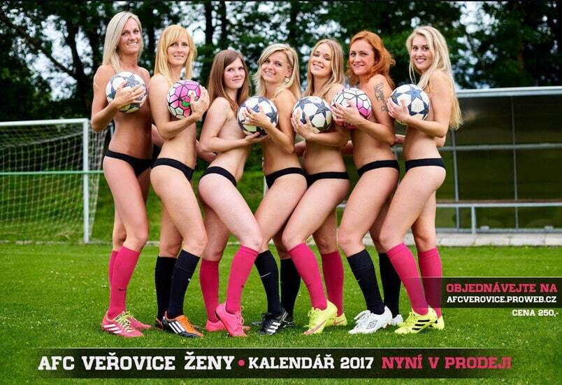 Чеські футболістки роздяглися для еротичного календаря