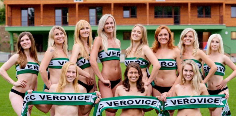 Чешские футболистки разделись для эротического календаря