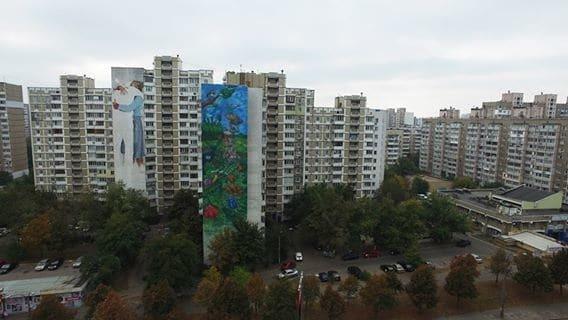 В Киеве нарисовали сюрреалистичный мурал с Шевченко