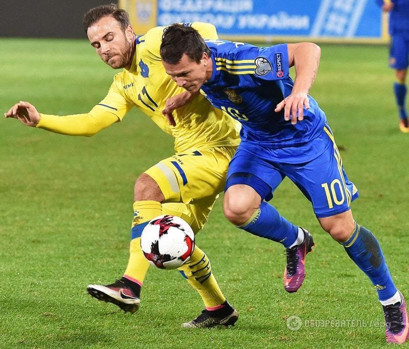 Украина добыла первую победу в отборе к ЧМ-2018