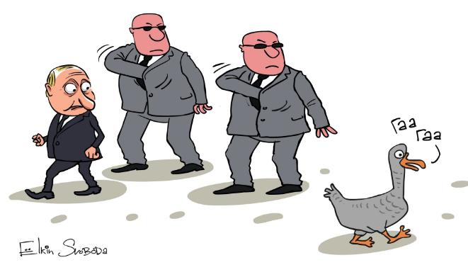 Мерещится Гаага: испуганного Путина высмеяли в карикатуре