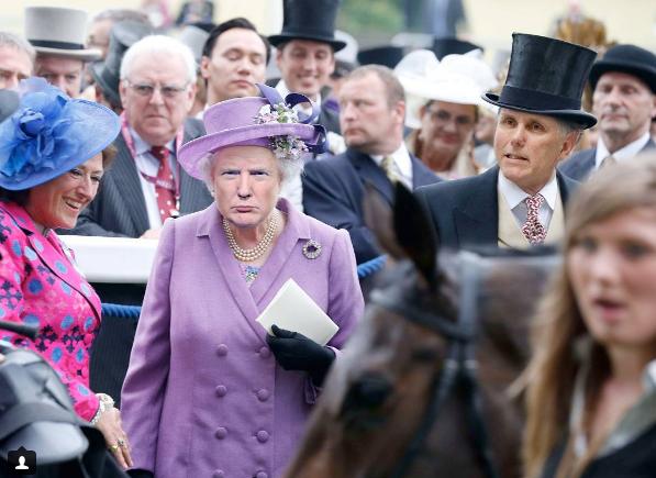 """""""Скрестил"""" Трампа и королеву Великобритании: дизайнер позабавил сеть необычными фото"""