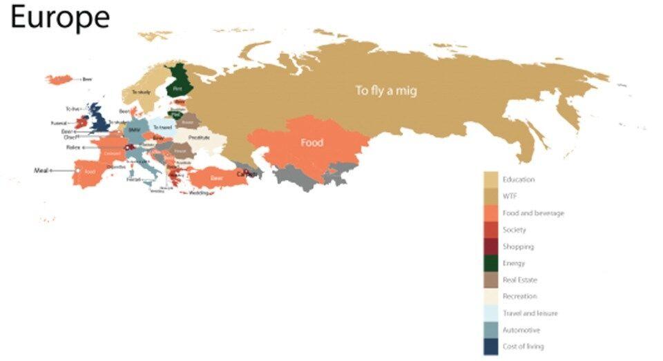 Интересная характеристика: назван самый популярный ценовой запрос об Украине в Google