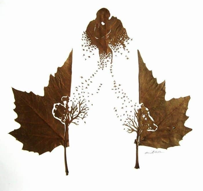 этой идеей открытки с опавшими листьями сделать опять же