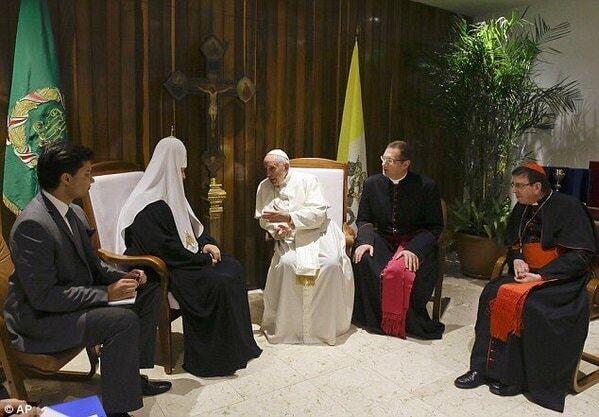 Папа Римский впервые встретился с Патриархом всея Руси