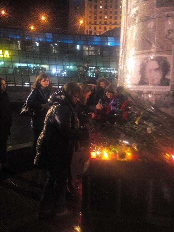 """""""Спи собі сама"""": тысячи киевлян на Майдане почтили память Кузьмы Скрябина"""