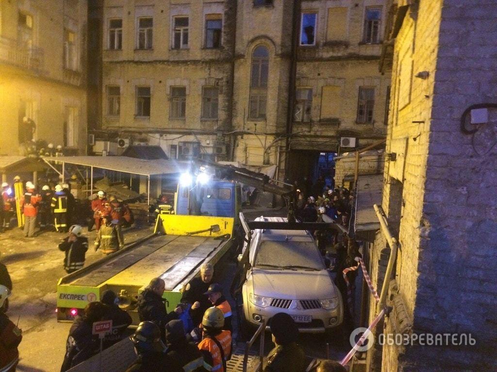 Обвал будинку в центрі Києві: подробиці НП, фото і відео