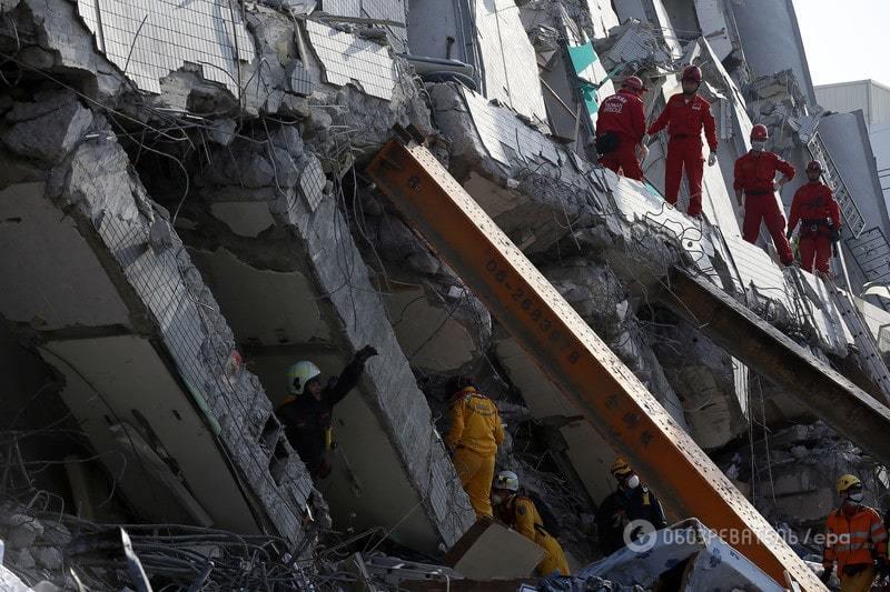Землетрус на Тайвані: під завалами знаходяться більше 130 осіб