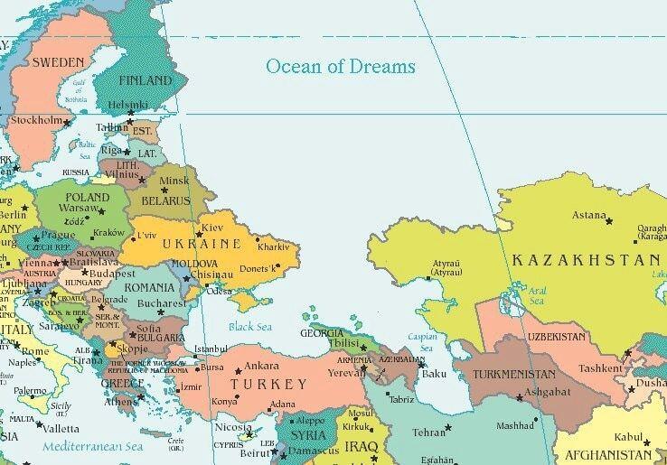 У Грузії намалювали мапу світу з океаном замість Росії