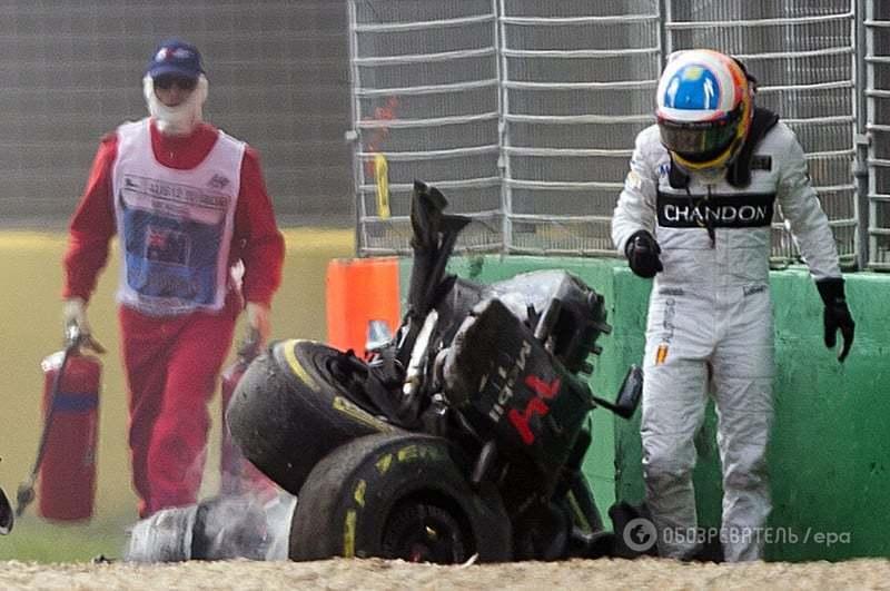 Дворазовий чемпіон світу потрапив у жахливу аварію на Гран-прі Австралії: відео аварії
