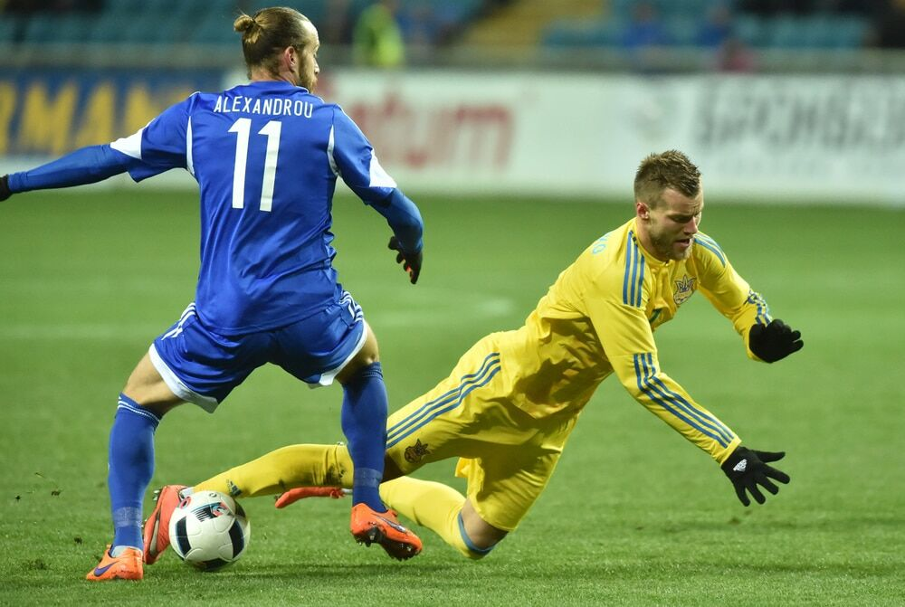Сборная Украины минимально обыграла Кипр в товарищеском матче