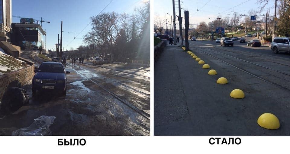 В сети показали, как в Одессе воюют с автохамами