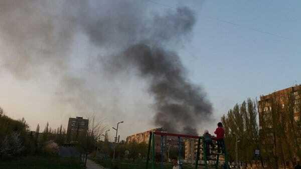 Захоплену Макіївку заволокло димом від масштабної пожежі