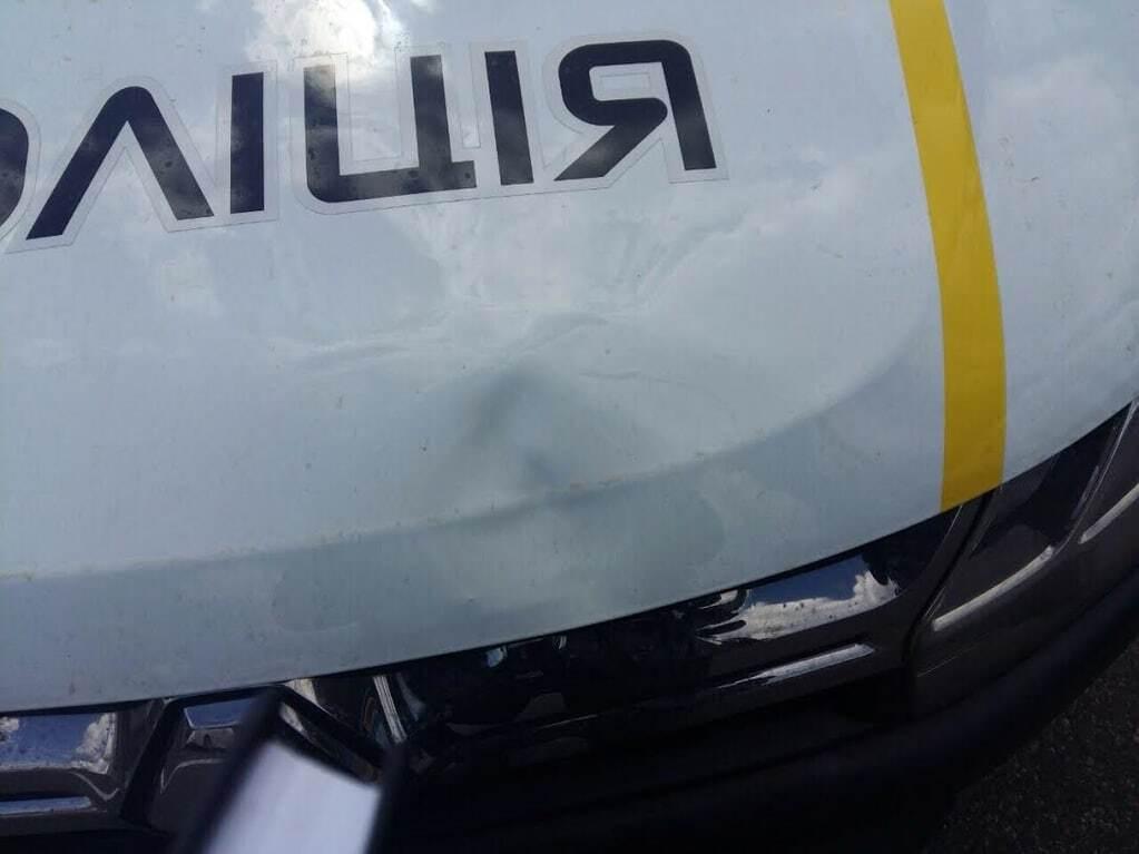 В Киеве авто полиции сбило женщину: все подробности, фото, видео