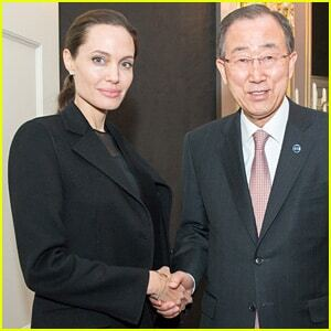 """""""Умирающая"""" Джоли встретилась с главой ООН: опубликованы фото"""
