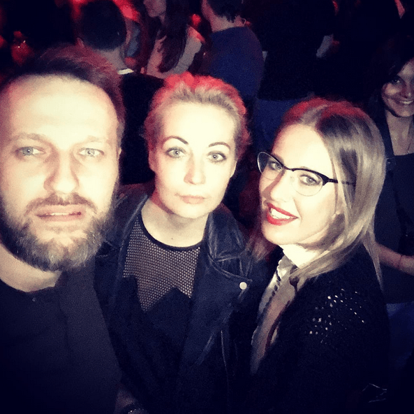 Собчак развлеклась с Навальным и Макаревичем