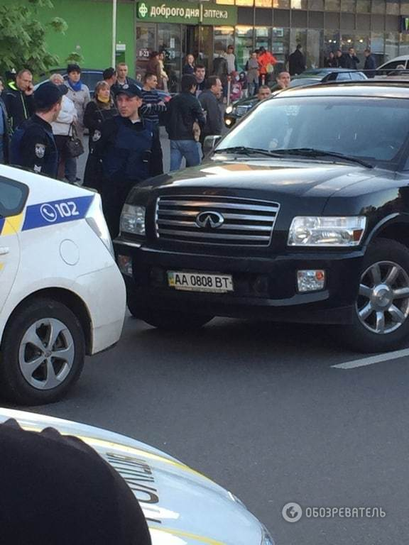 Погоня полиции за внедорожником в Киеве: появилось видео задержания
