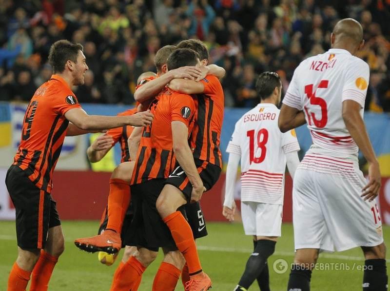 """""""Шахтар"""" зіграв внічию із """"Севільєю"""" в першому півфіналі Ліги Європи"""