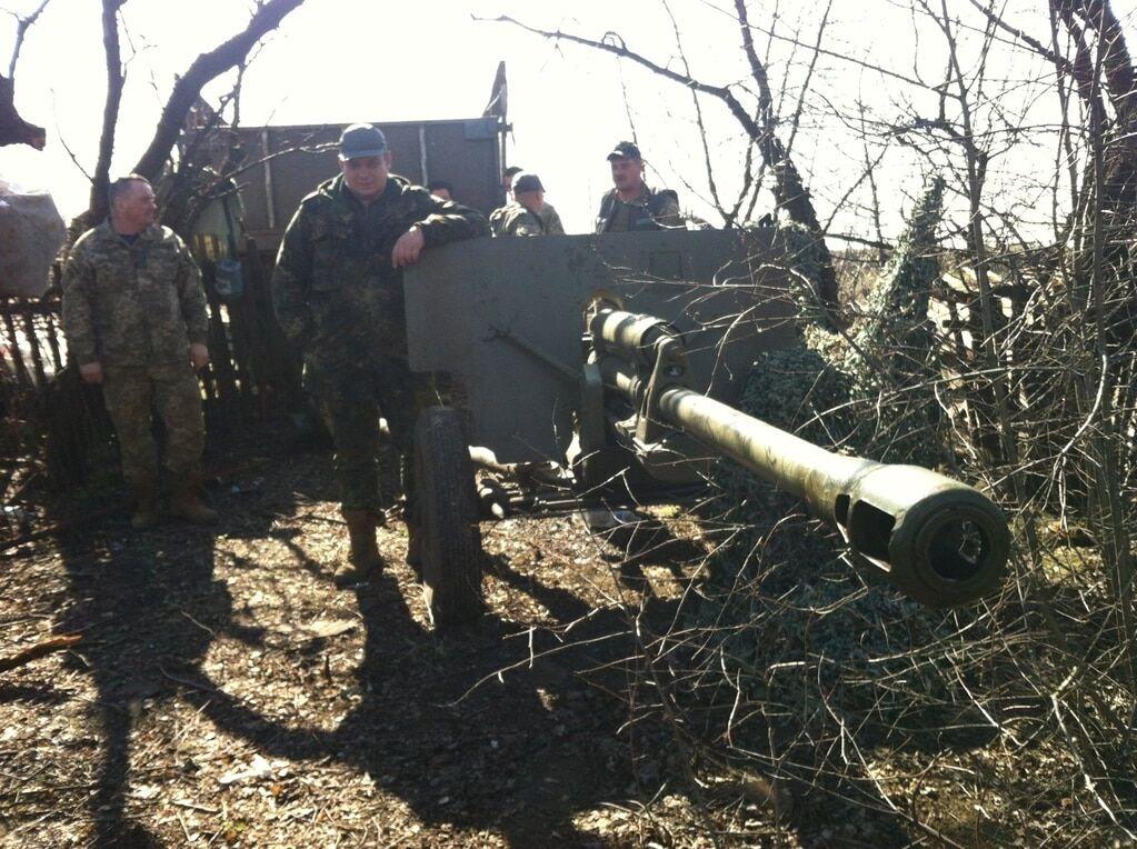"""Журналіст показав """"стареньку"""" на озброєнні сил АТО на Донбасі"""