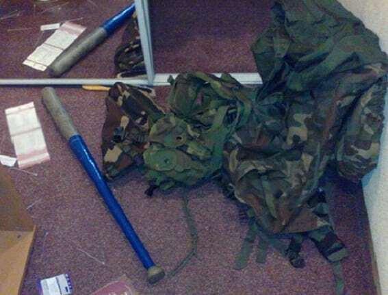"""У київському готелі """"Либідь"""" виявили зброю"""