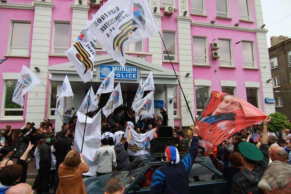 """У Донецьку пройшов """"порожній марш"""" комуністів на 1 травня"""