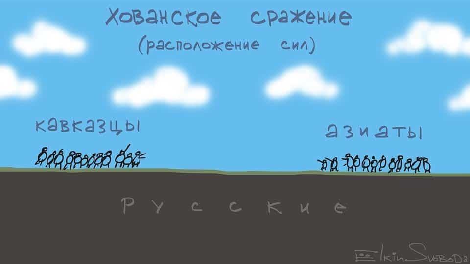 """Русские на """"Хованской"""" бойне в Москве: Елкин показал расположение сил"""