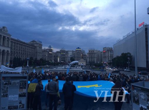 Річниця депортації кримських татар: на Майдані відбувся мітинг пам'яті