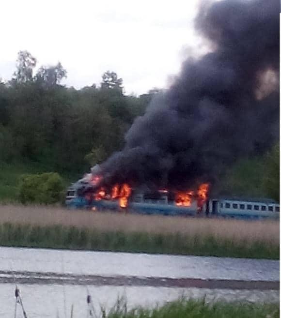 На Вінниччині на ходу загорівся поїзд із сотнею пасажирів