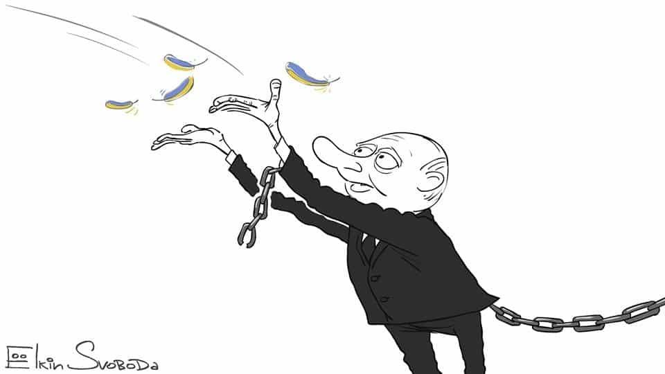 """Звільнення Савченко: художник показав, як Путін """"подарував собі надію"""""""