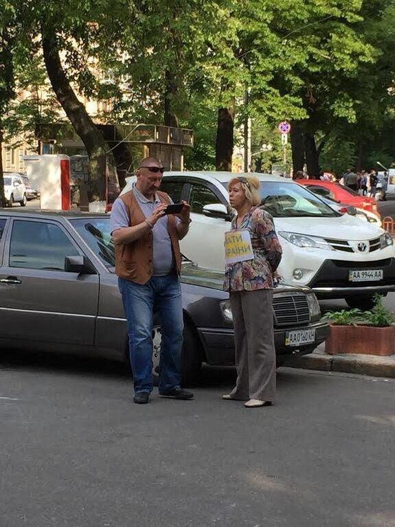 """Сепаратистка з """"ДНР"""" відпрацьовувала кремлівські гроші в центрі Києва"""