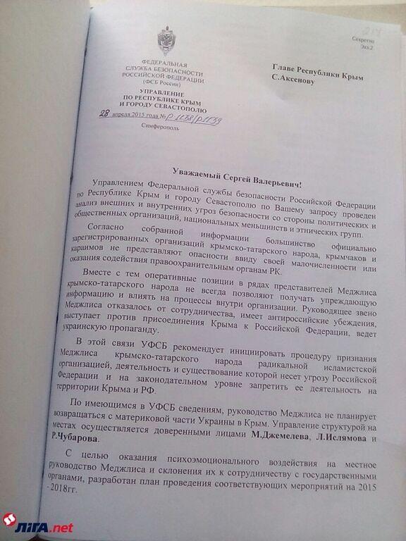 """Психологический прессинг и """"замещение"""": ФСБ разработала план нейтрализации Меджлиса"""