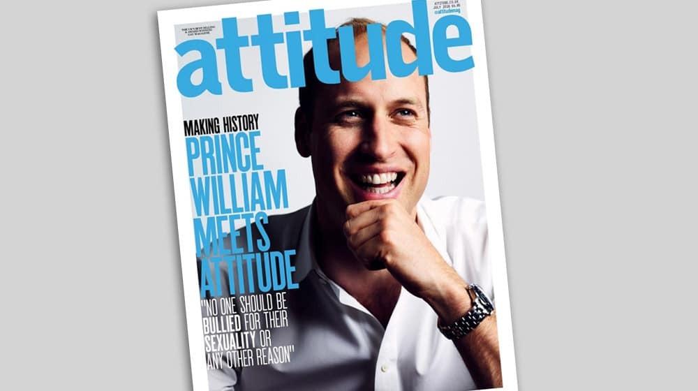 Принц Вільям прикрасив обкладинку журналу для геїв