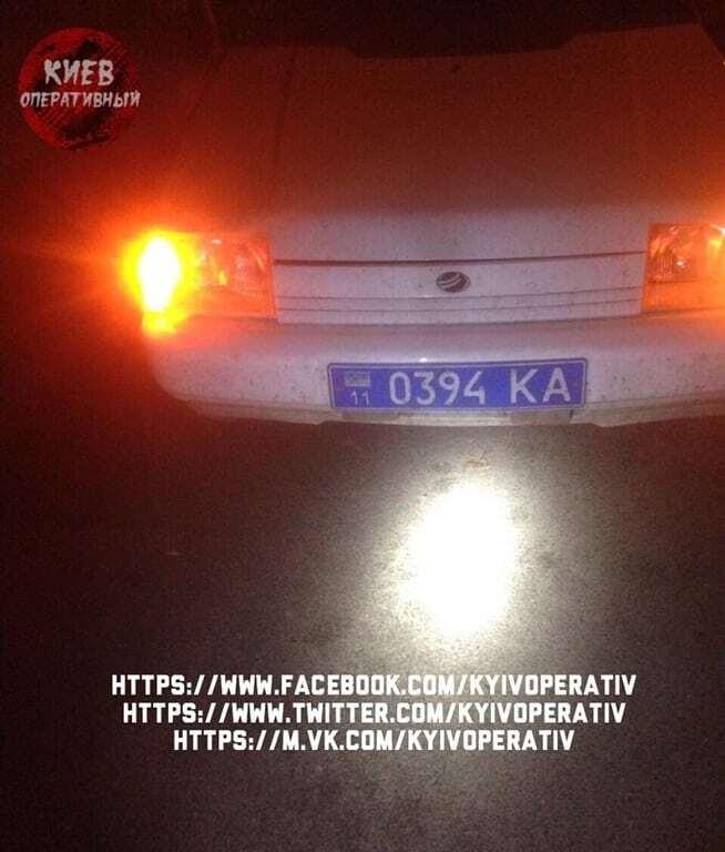 """В Киеве полиция остановила пьяного полковника на """"Таврии"""""""