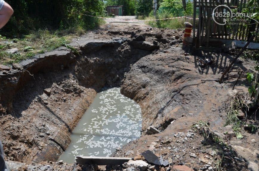 """""""Фонтан висотою в кілька поверхів"""": центр Маріуполя затопило фекаліями"""